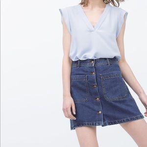 ZARA Denim Skirt with Buttons